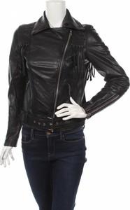 Czarna kurtka Y.A.S w stylu casual ze skóry