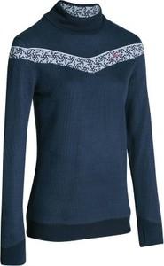 Granatowy sweter wed'ze w stylu casual