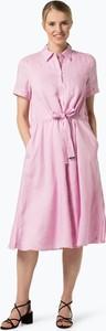 Różowa sukienka Tommy Hilfiger midi