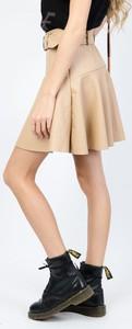Spódnica Olika w młodzieżowym stylu ze skóry mini