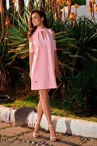 Różowa sukienka Lemoniade z dekoltem typu choker