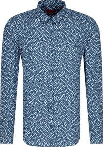 Niebieska koszula Hugo Boss z długim rękawem