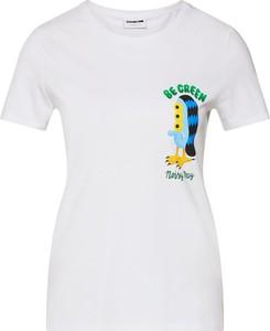 Bluzka Noisy May z krótkim rękawem z okrągłym dekoltem w młodzieżowym stylu