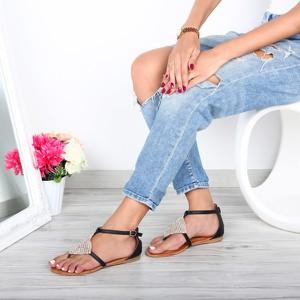 Sandały Royalfashion.pl w stylu casual z płaską podeszwą