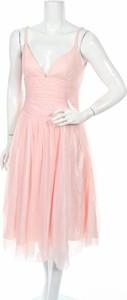 Różowa sukienka Sandra Pabst na ramiączkach