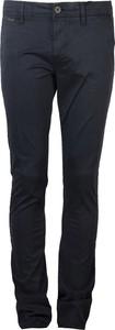 Niebieskie spodnie Guess z bawełny