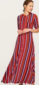 Czerwona sukienka Reserved w stylu casual z okrągłym dekoltem