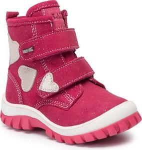 Różowe buty dziecięce zimowe Lasocki Kids na rzepy