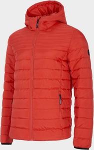 Czerwona kurtka Outhorn krótka w stylu casual