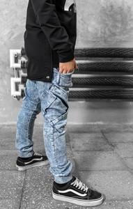 Niebieskie spodnie dziecięce All For Kids dla chłopców