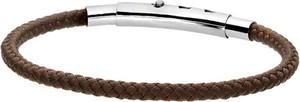 Manoki Brązowa bransoletka męska ze sznurka bawełnianego, regulowana długość