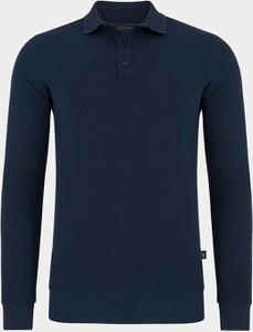 Granatowa koszulka z długim rękawem Pako Lorente w stylu casual