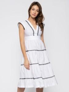 Sukienka Pinko z dekoltem w kształcie litery v w stylu casual bez rękawów
