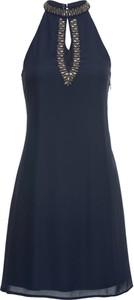 Sukienka bonprix BODYFLIRT bez rękawów trapezowa mini