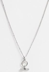 Icon Brand – Naszyjnik łańcuszkowy z zawieszką w kolorze srebra-Srebrny