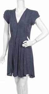Niebieska sukienka Rolla`s w stylu casual z dekoltem w kształcie litery v