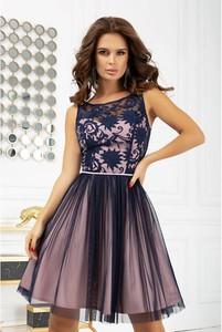 Sukienka Bicotone mini z dekoltem w łódkę