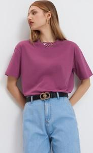 Różowy t-shirt Mohito z okrągłym dekoltem
