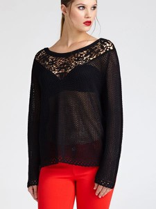 Czarny sweter Guess z bawełny w stylu casual