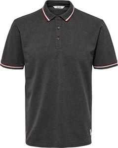 Czarna koszulka polo Only&sons z krótkim rękawem