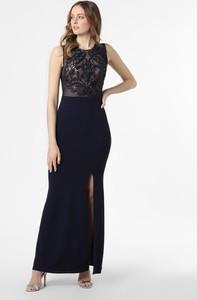 Niebieska sukienka Lipsy z okrągłym dekoltem maxi bez rękawów