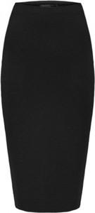Czarna spódnica Klaudyna Cerklewicz z dzianiny midi