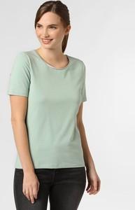 Zielony t-shirt Marie Lund w stylu casual z okrągłym dekoltem