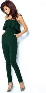 Zielony kombinezon Ivon w stylu klasycznym