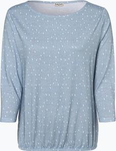 Niebieski t-shirt Munich Freedom w stylu casual z długim rękawem