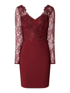 Czerwona sukienka Lipsy mini z długim rękawem
