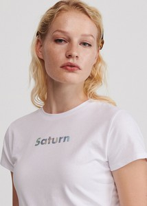 T-shirt Reserved z okrągłym dekoltem w młodzieżowym stylu