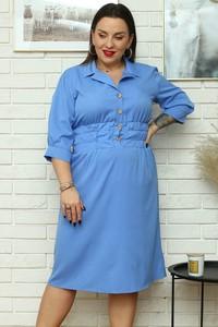 Sukienka KARKO koszulowa w stylu casual