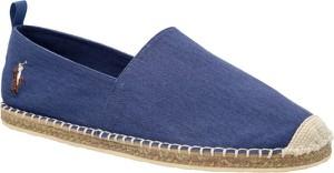 Niebieskie buty letnie męskie POLO RALPH LAUREN w stylu retro