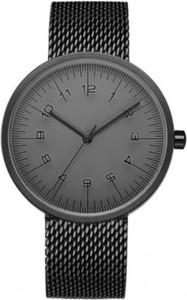 Czarny zegarek geekthink zegarki kwarcowe