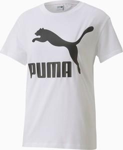 T-shirt Puma z bawełny z krótkim rękawem z okrągłym dekoltem