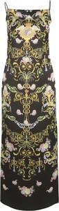 Sukienka Versace Jeans maxi z dekoltem w kształcie litery v na ramiączkach