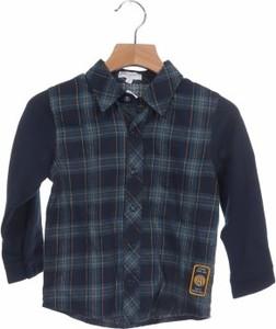 Granatowa koszula dziecięca Alphabet w krateczkę dla chłopców
