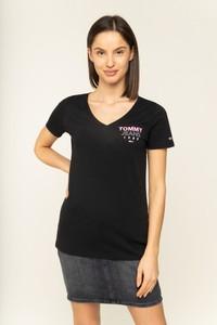 Czarny t-shirt Tommy Jeans z krótkim rękawem
