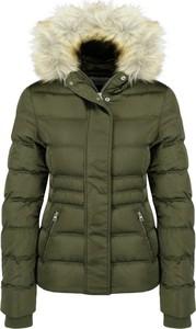 Zielona kurtka Calvin Klein krótka w stylu casual