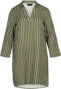 Zielona tunika Zizzi z tkaniny