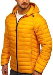 Żółta kurtka Denley krótka w stylu casual
