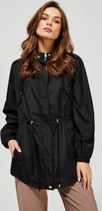 Czarna kurtka Moodo w stylu casual długa