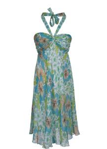 Sukienka Fokus midi z dekoltem halter