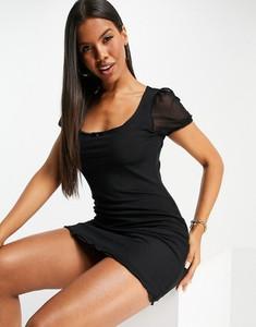 Czarna sukienka Brave Soul z krótkim rękawem w stylu casual mini