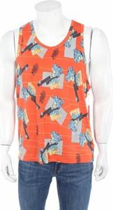 Pomarańczowa koszulka Adidas z nadrukiem