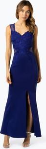 Niebieska sukienka Lipsy z dekoltem w kształcie litery v maxi