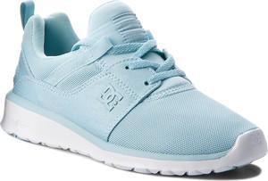 Błękitne buty sportowe DC w sportowym stylu
