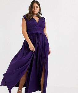 Fioletowa sukienka Asos bez rękawów maxi