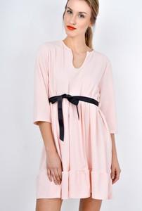 Sukienka ZOiO.pl w stylu casual oversize z dekoltem w kształcie litery v