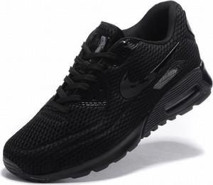 Czarne buty sportowe Nike air max 90 ze skóry sznurowane